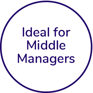 Ideal for middle managers icon