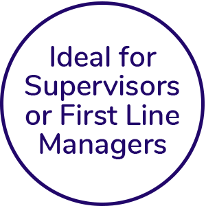 Ideal for supervisors or first line managers icon